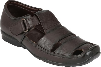 Azzaro Black Men Brown Sandals