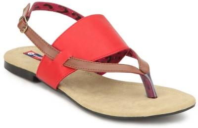 American Swan Women Red Flats