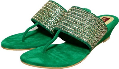 Port Women Green Heels