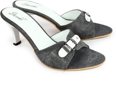Starchi Women Grey, White Heels