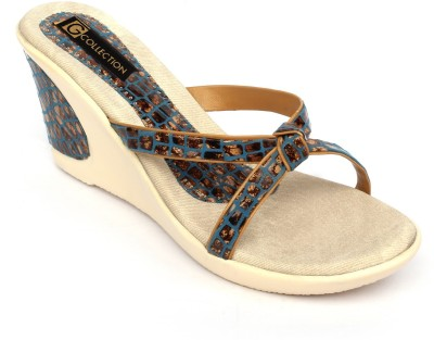 Gcollection Women Blue Wedges