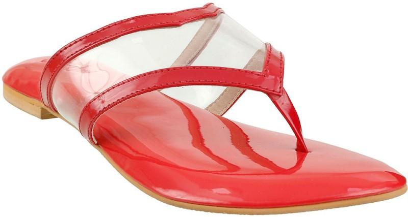 Siendo Desi Women Red Flats