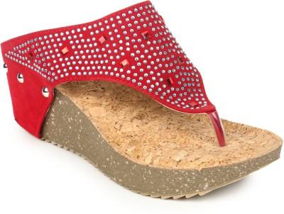 Pede Milan Women Red Wedges