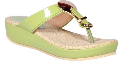 Funku Fashion Women Green, Green Flats