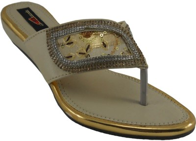 B3trendz Women Gold, Tan Flats