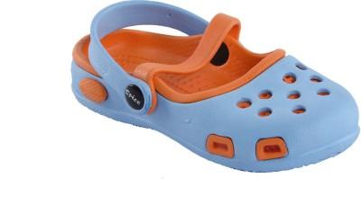 Spice Olive Baby Girls Blue, Orange Sandals