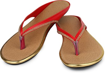 Bonzer Women Red Flats