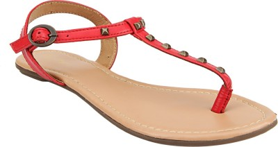 Tao Paris Women Red, Beige Flats