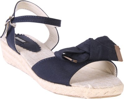 karizma shoes Women Blue Wedges