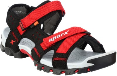 Sparx Men Black, Red Sandals at flipkart