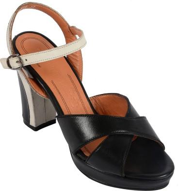 Salt N Pepper 14-048 Megan Black White Women Black Heels