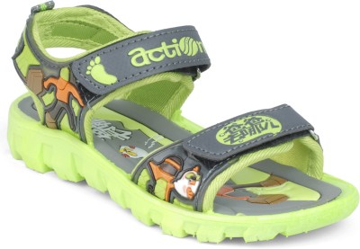 Action KS-125 Boys, Girls Grey, Green Sandals
