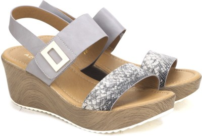 Addons Women GREY Wedges at flipkart