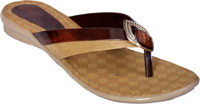 Aadolf Women Brown, Beige Flats