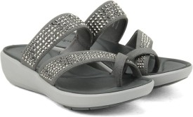 Clarks Women Silver Synthetic Sports Sandals
