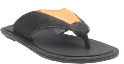 Jack Don Men Orange, Black Sandals