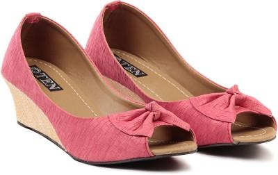 TEN Women Pink Wedges