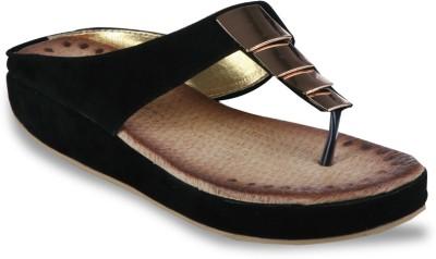 Studio 9 Mid Heel V Women Black, Gold Flats