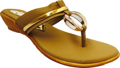 Recent Collection Women Gold Wedges