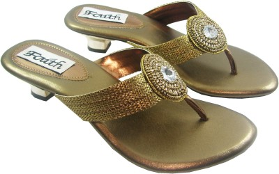 Faith 100105 Women Gold Heels