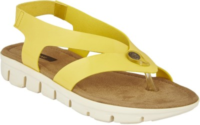 Chicopee Women Yellow Flats