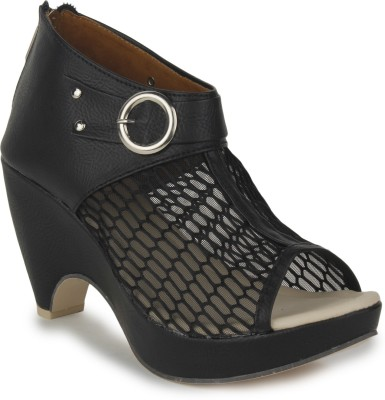 Sapatos Women Black Wedges