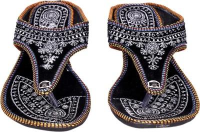 Jaipuriyaa Women Black Flats