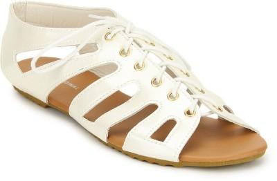 American Swan Women Silver Flats