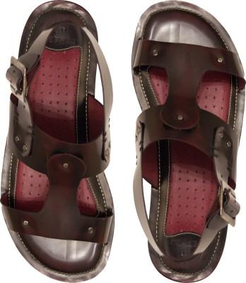 Kethini Men Black, Maroon Sandals