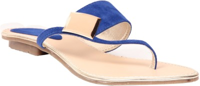 Fiorella Women Blue Flats