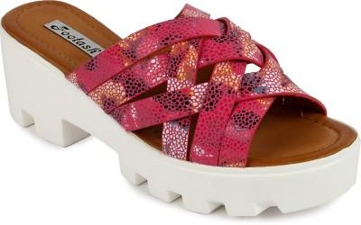 FOOTASH Women Pink Wedges