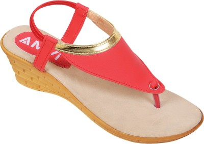 Amvi 17F967 Women Red Wedges