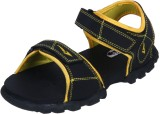 Irus R-Sports Men Black Sandals