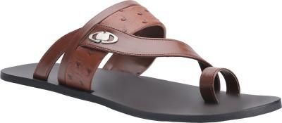 Shoe Bazar Men Tan Sandals