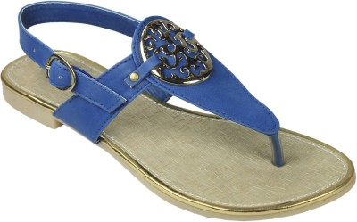 Leatherworld Women Blue Flats