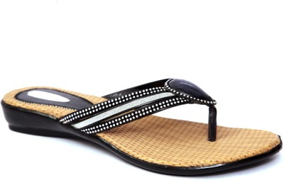 Laila Collections LATE0050300BW Women Black Flats