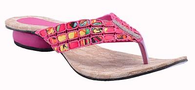 Fabme Women Pink Flats