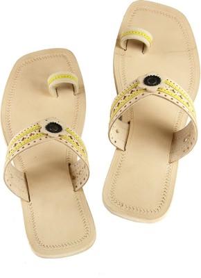 Ekolhapuri Women Yellow Heels