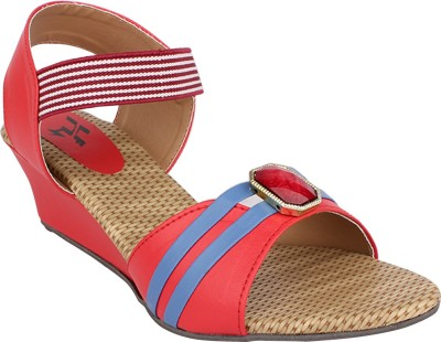 Hirafashionwear Women Red Wedges