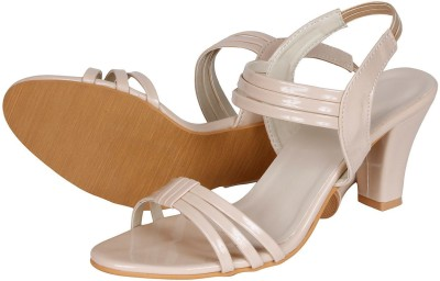 Lovely Chick Women White Heels