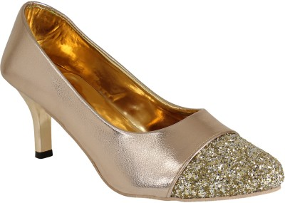 Authentic Vogue Women Gold Heels