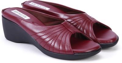 Soft & Sleek Women Maroon Wedges