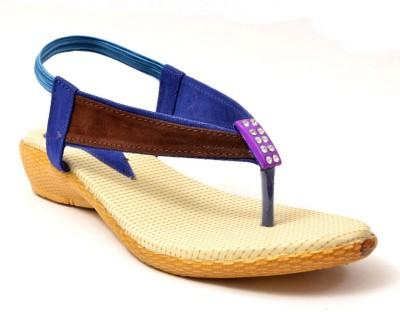 Lee Walk Girls Blue Flats