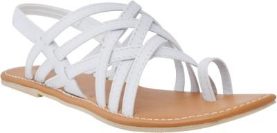 New Divas Women White Flats