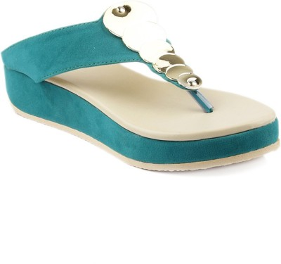 Laila Collection Women Green Wedges