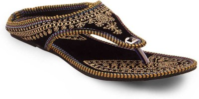 Little India Women Black Flats