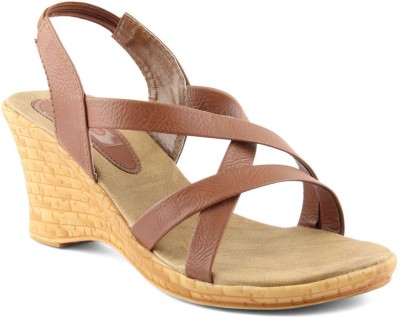Cute Fashion Women Brown Wedges