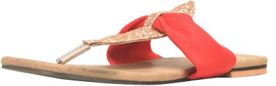 M A Enterprise Women Red Flats