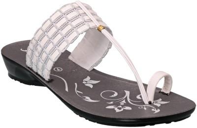 Action Shoes Women White Flats