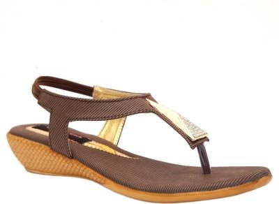 Trilokani Women Brown Flats